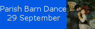 Parish Barn Dance at St Johns, 29 September