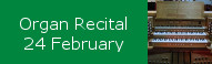 Organ Recital at St Peters, February 24