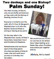 Palm Sunday journey, March 25