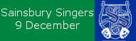 Sainsbury Singers at St Peters, 9 December