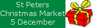 Christmas Market at St Peters, 10.30am December 5